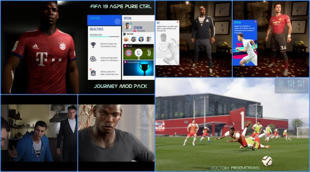 FIFA 19 JOURNEY AGPE PURE CONTROL MOD PACK